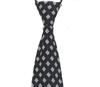 2012新款时尚方便拉链领带 深蓝色白色方格 (戴领带速度就是