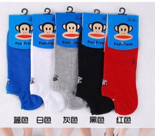 纯棉 大嘴猴 袜子男袜船袜短袜子隐形袜 夏季薄袜成人袜