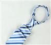 三变钱塘 电脑色织提花  高档男士商务领带真丝领带 地中海蓝条