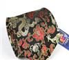 三变钱塘 高端品牌商务领带 中国龙 男真丝织锦领带 黑底牡丹金龙