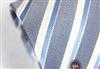 三变钱塘 商务正装男士真丝领带 银质灰条纹领带 电脑色织提花119