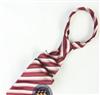 三变钱塘 电脑色织提花 高档男士商务领带真丝领带 深红条纹