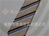 浅卡其色条纹 优雅商务休闲真丝提花领带 100%桑蚕丝高档领带