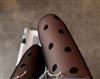韩国进口性感可爱复古大圆点点连裤袜丝袜.白97619#