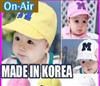 韩国 M刺绣棒球帽儿童遮阳帽鸭舌帽