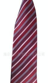 供应 定做 男士浅蓝色条纹涤丝领带