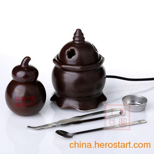 供应酉圆工坊第二代车载熏香炉,黑色棕色,车上专用熏香器//正宗台湾陶瓷