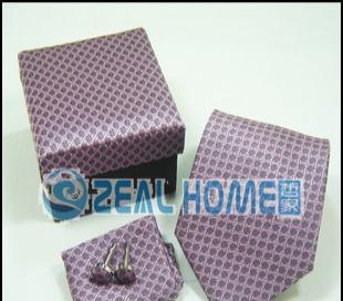 桑蚕丝领带 紫色印花格子领带 正装领带 衬衣领带 男人领带 S258