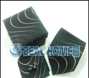 真丝领带 黑色印花领带 男士正装领带 衬衣领带 正品领带 S265