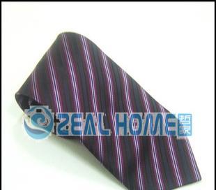 桑蚕丝领带 紫红条纹领带 正装领带 衬衣领带 男士领带 正品 S025