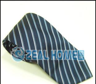 真丝领带 蓝色印花条纹领带 正装领带 衬衫领带 男人领带 S018