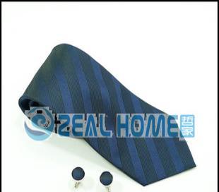 桑蚕丝领带 灰蓝印花条纹领带 正装领带 衬衣领带 男人领带 S106