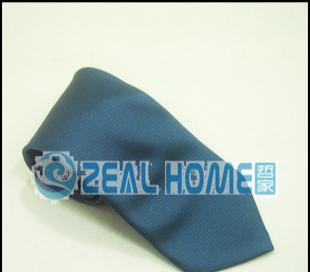 桑蚕丝领带 藏蓝格子领带 正装领带 衬衫领带 男人领带 纯色 S045