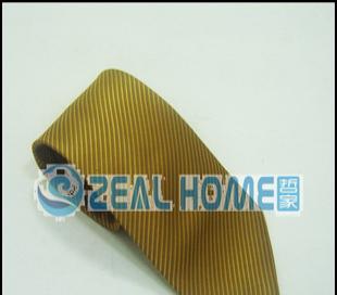 真丝领带 黄色条纹领带 正装领带 衬衣领带 男士领带 纯色 S035