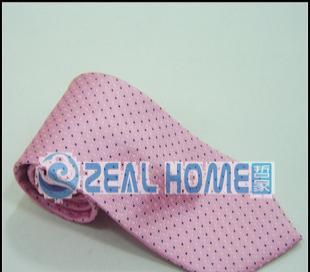 桑蚕丝领带 粉红格子领带 男正装领带 衬衣领带 男人领带 S052