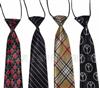 外贸库存尾货 涤丝印花 儿童领带 学生领带 混合花型