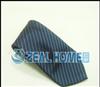 真丝领带 蓝黑细条纹领带 公司礼品领带 提花领带 正品领带 S266