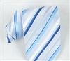 旗彤 新品上架 新款蓝色条纹南韩丝正装领带—QTZG026