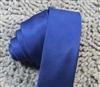 旗彤 宝蓝色细条纹 5CM窄版休闲 韩版学生潮流领带 男女都适合