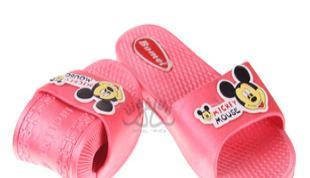 批发卡通粉色米奇拖鞋软底浴室拖厚底居家凉拖夏季沙滩拖鞋