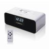 供應尼創新款V6酒店鬧鐘音箱iphone底座收音貪睡功能