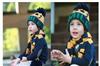 批发 韩国最新针织保暖 围巾帽子二件套 笑脸儿童毛线套件M65