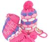 品牌直销 *芭比* 可爱儿童冬帽围巾二件套针织帽套头帽 BFB-3172A