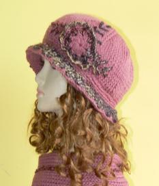嘉迪宝奈纯羊毛毛线套帽园林 肉粉色
