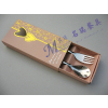 供应心心相印不锈钢餐具 不锈钢餐具叉勺两件套