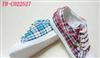 供应女式格子帆布鞋 2012时尚女式帆布鞋