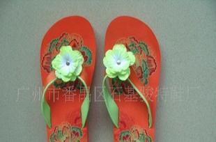 韩版特色拖鞋EVA坡跟拖鞋 外贸女式沙滩展示拖鞋