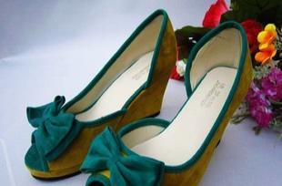 长期批发各品牌库存童鞋,女鞋 女式单鞋 春夏款坡跟百搭时尚女鞋