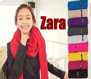 西班牙ZARA围巾 正品 纯色长围巾 披肩 情侣围巾26色批发