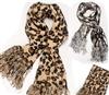 新款最流行豹纹 毛线舒适围巾批发 男士围巾 女式围巾