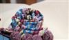 针织双面格子毛线民族风波西米兰亚球球5色提花围巾披肩围脖批发