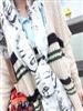 2011秋冬新款 梦露涂鸦图案 素描美女头像雪纺 超长款围巾