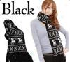 新款 针织毛线披肩 小鹿雪花围巾