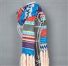 波西米亚 欧美民族风秋冬女围巾 超长毛线针织条纹流苏 围巾