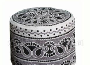 厂家直销穆斯精品刺绣帽子, 沙特高档网帽,穆斯林男袍