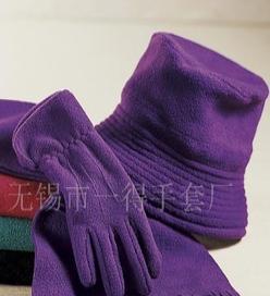 供应摇粒绒四件套/手套/帽子/围巾/绒布包
