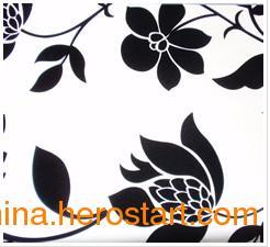 中国高档墙纸品牌瑞泉供应无纺纸植绒壁纸