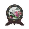 供应2014新年西安炭雕礼品,陶瓷碳盘景德镇陶瓷结合炭雕艺术造型