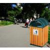 供应垃圾桶木条  休闲椅厂家