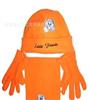儿童卡通摇粒绒三件套 儿童保暖三件套