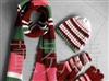 供应生产围巾帽子手套 材质分毛线针织 摇粒绒绣花LOGO