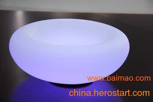 供应七彩魔幻充电式LED水果盘