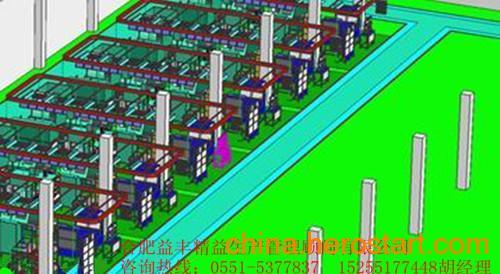 新厂房的产品物流系统分析管理道具的配置及厂房图纸的设计效果图feflaewafe