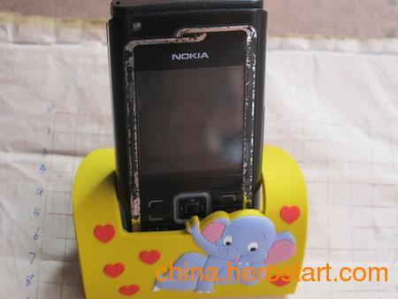 供应pvc手机座  卡通PVC软胶手机座  礼品手机座