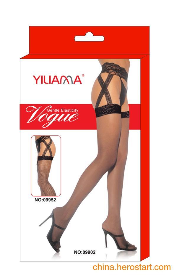 供应依莲娜正品时尚新款性感花边交叉吊带情趣丝袜