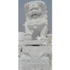 供应汉白玉天门狮  白色狮子 石狮子
